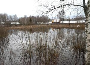 I biflödena till Sundbornsån är vattennivåerna redan höga.