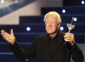 Skådespelaren Max von Sydow är död. Här ses han i spanska San Sebastian ta emot pris för sin livsgärning inom filmen.