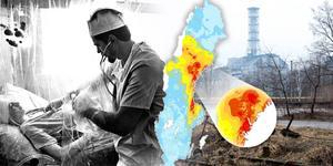 När Tjernobyl havererade drabbades Västernorrland och Gävletrakten av radioaktivt nedfall. Bildmontage: Robin Brinck