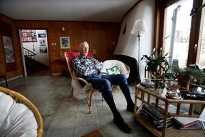 Foto: Lars Halvarsson, P-O Eriksson i villan på Hedåsvägen.