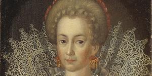 Målning som (i alla fall tidigare) sägs föreställa Cecilia Vasa. Denna dotter till Gustav Vasa bodde under en tid i Arboga och vore enligt insändaren lämplig att få en gata uppkallad efter sig. (Detalj ur oljemålning, okänd konstnär. Foto: Creative Commons)