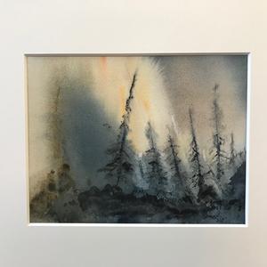 Aja Pettersson målar akvareller.