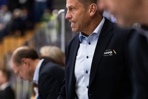 Ulf Samuelsson var besviken efter förlusten, men konstaterade samtidigt att det var kul att vara tillbaks i båset. Bild: Bildbyrån