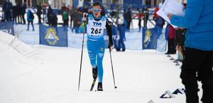 Gustav Hedström på väg mot USM-guld i H16-klassen.Foto: Mikael Hedström