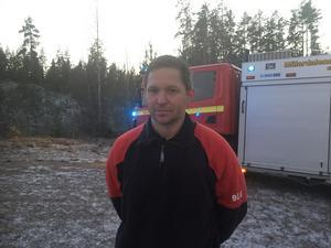 Magnus Segerberg, arbetsledare på Räddningstjänsten i Virsbo.