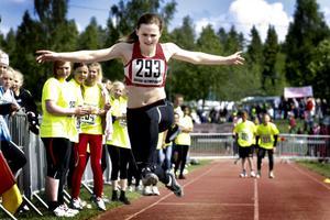 Isabelle Skog hoppade längd för Milboskolan klass 6A.