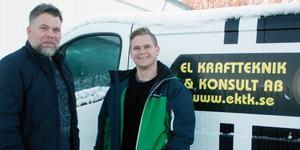 Magnus Andersson och Joakim Ihrfors hoppas nu kunna gå ner till att jobba 40 timmar i veckan. Foto: Hans Godén