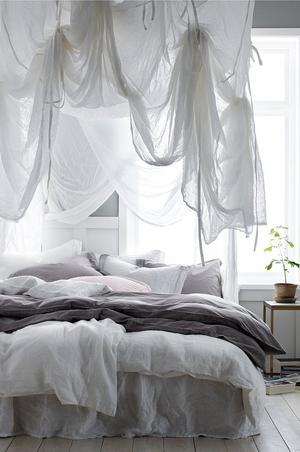 Sänghimmel Blanca från Ellos.