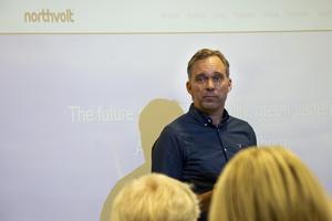 Mikael Ådahl under frukostföreläsning på Elite Plaza Hotell som anordnades av Styrelseakademien Norr.