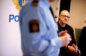 - Ännu är ingen kropp hittad, berättar Sten-Rune Timmersjö, chef för avdelningen grova brott vid polisen i Fyrbodal, som utreder det misstänka mordet på en 36-årig före detta örebroare. Arkivfoto: Adam Ihse / TT