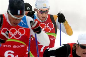 Mats Larsson åkte första sträckan när Sverige knep bronset i Turin 2006. Bild: Pontus Lundahl/TT.