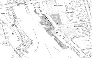 Turistbåtarna i Askersunds hamn kommer att placeras enligt följande i sommar. Skiss: Byggstatik