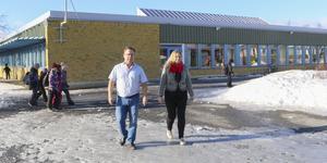 Peder  Söderman och Linda Sundstedt är rektorer på Vallaskolan, Frösön.