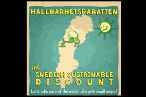 Loggan till hållbarhetsrabatten, fri att använda.