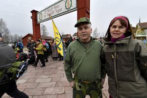 Ola och Ing-Marie Mattsson från Venjan inledde med att gå från Venjan till Vasaloppsmålet för att sedan fortsätta hela vandringen mot Stockholm.