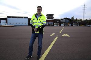 Anders Mjöberg, flygplatschef på Mora-Siljan flygplats.