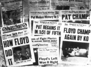 När Floyd Patterson kom till Vålådalen hade han visserligen förlorat världsmästartiteln men var ändå en av världens mest älskade boxare.