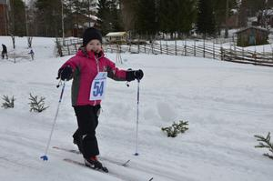Under lördagen deltog Novalie Tarander, 4 år, i loppet för första gången. Hon hoppades på att få en pokal när hon gick i mål.