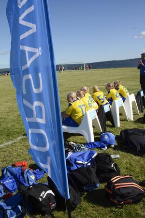 Torsångs IFs avbytare i semifinalen för gruppen flickor 13 år som spelades mot SDFF.