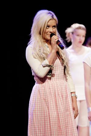 Greta Sandkvist var konferencier under showen och berättade hur mycket Dansoteket hade betytt för henne.