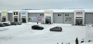 Här i södra Birsta ska Sportson-butiken öppna. Det blir i Hecas nuvarande lokal, till vänster i bilden.