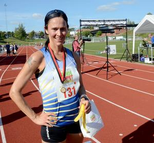 Snabbaste damen på fem kilometer var Annika Norrman från Avesta.