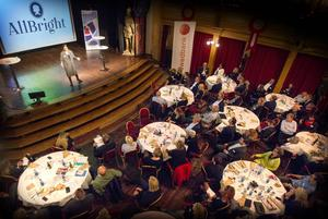 Amanda Lundeteg, vd på stiftelsen Allbright och uppväxt i Brunflo, talade om vikten av jämställdhet i bolagsstyrelserna.