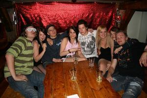 Konrad.  Norsken, Jennifer, Fredrik, Jennt, Alex, Madelene, Linus och Tobbe