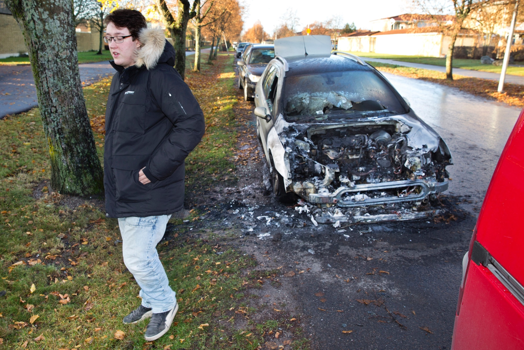 Annu en bilbrand i vasteras