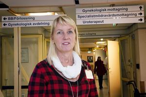 Kerstin Wikman, enhetschef för kvinnokliniken Örnsköldsvik, är nöjd med 2013.