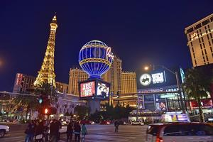 The Strip, Las Vegas sju kilometer långa huvudstråk.