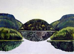 Symmetriskt landskap, Anneli Furmark, akryl.