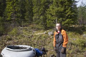 Pelle Rooth arbetar för Stora Enso och deltog i eftersläckningsarbetet i Ramsjö under fredagen.