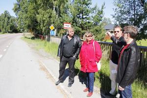 Vägen genom Måga är i stort behov av en gång- och cykelväg, anser kommunen.