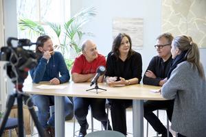 Andreas Lönnqvist, Göran Eliasson, Pers Anna Larsson och Ulrilk Qvale berättar om planerna för sommarens opera i Dalhalla.