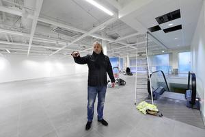 Diös retailansvarige Håkan Ruda välkomnar inom kort en ny aktör inom inredning till gallerian.