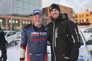 David Arhusiander, Östersund och racingprofilen Fredric Magnusson. Arhusiander är kartläsare bredvid Anders Karsson, Säffle medan Magnusson var prisutdelare.