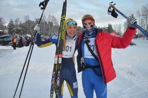 Annika Löfström och Victor Gustafsson blev segrare i Moraloppet 2017.