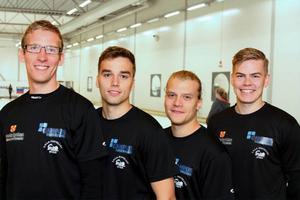 Lits VM-lag. Från vänster: Kristian Lindström, Oskar Eriksson, Markus Eriksson och Christoffer Sundgren.