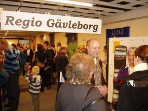 Intresset för Gävleborgs och hälsingekommunernas monter på mässan var stort.