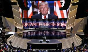 Donald Trump på Republikanernas konvent i Cleveland