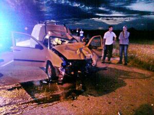 Frontalkrock. Föraren till den bil som krockade med en motorcyklist under måndagskvällen misstänks för grovt rattfylleri.