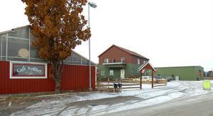 Närmast gamla växthusdelen med Butik Annorlunda, sedan byggnaden med Foder & Lantgård och längst bort byggnaden dit Butik Annorlunda ska flytta.