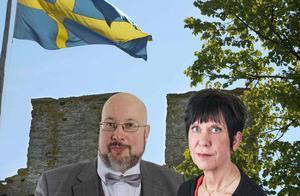 På plats i Almedalen var   Patrik Oksanen och Lilian Sjölund