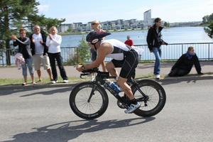 Mirre Eriksson under cyklingen.