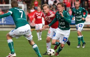 Här möts Brage och Degerfors på Domnarvsvallen förra året. Foto: Daniel Eriksson/arkiv