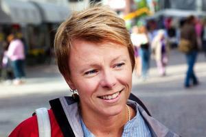 Pernilla Evaldsson, Aspås: – Allmänt tänker de nog på fjäll och norrländskmiljö. Jag tror att danskarna tänker på festival. Tyskar tänker nog på små röda stugor med vita knutar.