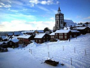 Malmplassen i Röros, en kommun i Norge som Härjedalens vill ha ett utökat samarbete med.