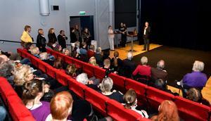 Lennart Fast talade när den nya salongen invigdes.