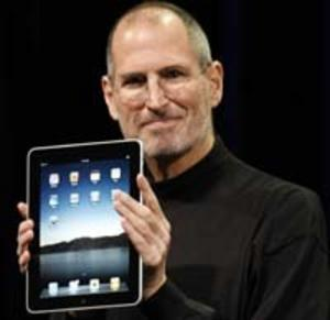 Steve Jobs presenterar Apples iPad.